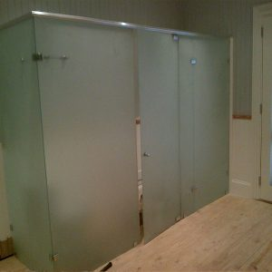 Custom Bathroom Enclosure Full Sandblast