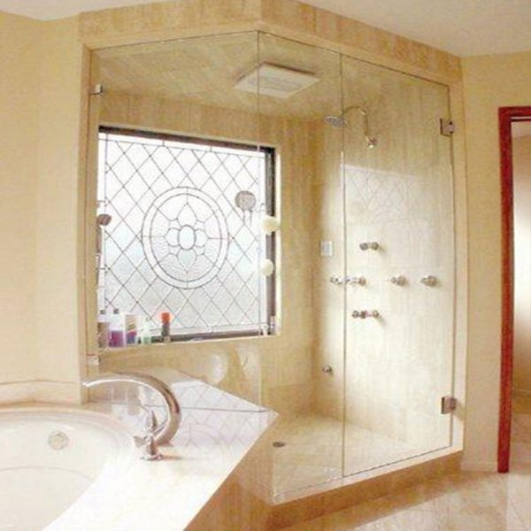 Frameless Hinged Door With Cut Out Panel