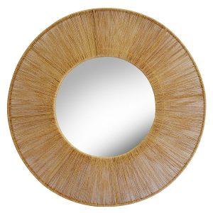 Jute Mirror Natural 900mm