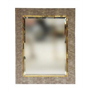 Shagreen Mirror Beige Rectangle 900 x 700mm