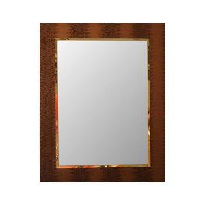 Shagreen Mirror Brown Rectangle 900 x 700mm