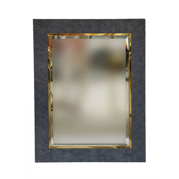 Shagreen Mirror Grey Rectangle 900 by 700