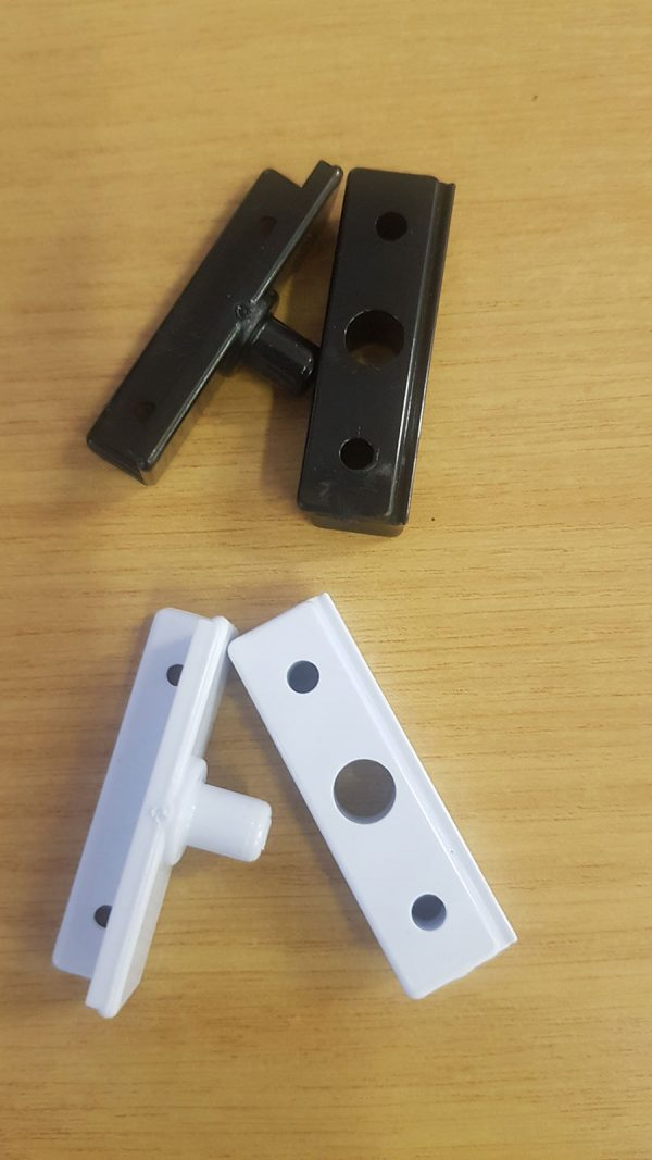 White or Black Pivot Blocks for Framed Pivot Doors